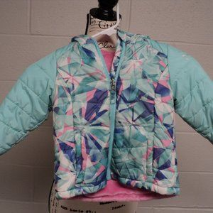 Free Country Childs winter colorful coat girls. Size unknown